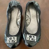 Womens Coach Ballet Flat Shoes Black Color Size 5 Photo
