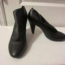 Womens Coach Black Bootie W/ Embossed Name - Size 39 Photo