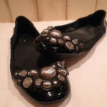 Womens Coach Black Leather Ballet Flat 7.5 Photo