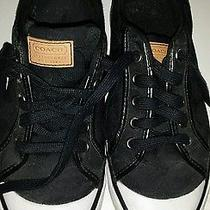 Womens Coach Black Signature Sneakers Size 6b Photo