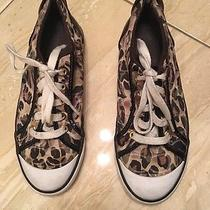 Womens Coach Cheetah Print Sneakers Size 7 1/2 Photo