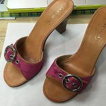 Womens Coach Diedre Heels Shoes Sandals 6.5b Pink Open Toe Slip on A8015 Italy Photo