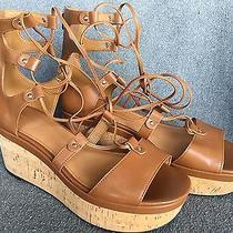 Womens Coach Gladiator Wedge Sandal 9b Photo
