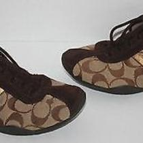 Womens Coach Katelyn Signature Sneakers Shoes Size 7 M Photo