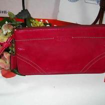 Womens Coach Pink Patent Leather Wristlet  Photo
