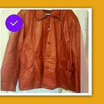Womens Coat Bagatelle Size Xxl Real Leather Preowned Photo