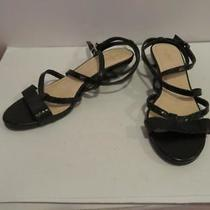 4006131e46ea Womens Cole Haan Black Leather Strappy Wedge Sandals Size 8.5 Photo