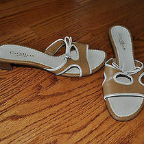 Womens Cole Haan Brown/beige Sandals Heeled Shoes Size 8.5 M Made in Brazil Photo