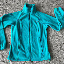 Womens Columbia Fleece Full Zip Jacket Teal Small Eeuc Photo