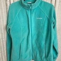 Womens Columbia Fleece Light Teal Zip Up Jacket -Size L Photo
