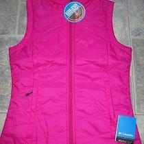 Womens  Columbia Morning Light Vest Small  Nwt 90 Omni Heat Raspberry Photo