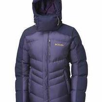 Womens Columbia Omni Heat Wind Blocker Down Winter Coat Parka Soft Grape Small   Photo