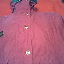Womens Columbia Pink Ski Jacket Medium Radial Sleeve Zip Up Button Up Euc Photo