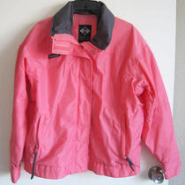 Womens Columbia Radial Sleeves Lightweight Nylon Double Zip  Jacket Large Pink Photo