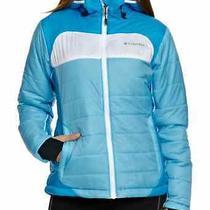 Womens Columbia Shimmer Flash Omni Heat Jacket Small  Blue White Nwt 150   Photo