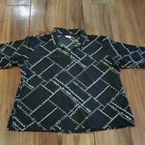 Womens Columbia Sportswear Long Sleeve Pullover Fleece Shirt Top 2xl Black Gray  Photo