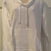 Womens Columbia White Hoodie Hero Mid-Wt Slub Cotton Long Sleeve Pullover Lg Photo