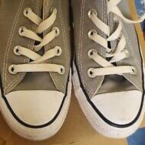 Womens Converse All Star Gray Canvas Sneakers Size 6 Photo