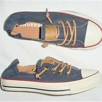 Womens Converse All Star Shoreline Navy Canvas Biscuit Sneakers Shoes 5 M  Photo