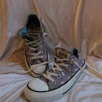 Womens Converse All Star Sneakers With Paint Splatter & Heart Design  ( 6m) Photo