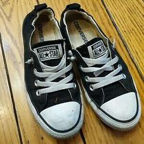 Womens Converse Shoreline Black Canvas Slip on Casual Sneakers Shoes  Size 7 Photo