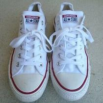 Womens Converse White Canvas Low Casual Sneakers Sz 9.5 Photo
