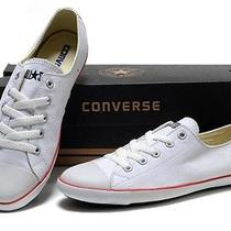 Womens Converse White Low Top Size 6 Photo