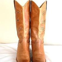Womens Cowboy Boots 11 M 44 Leather Naturalizer Natural Brown Western Photo