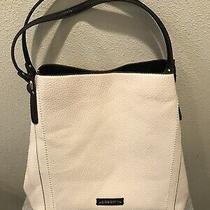 Womens Cream/black Liz Claiborne Large Shoulder Bag Purse  Photo