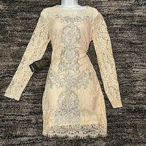 Womens Cream Color Lace Dress by Bebe Lg  Photo