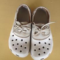 Womens Crocs Beige Deck Shoes.  Size W7/m5.  Gently Worn. Photo