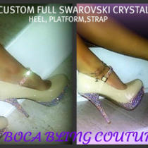 Womens Custom  Wedding Formal Platform I Shoes Made With Swarovski Elements Photo