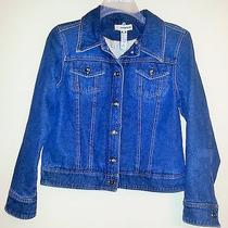Womens Denim Jean Jacket Gently Worn Blue Christie Brooks L Large Juniors 14 Euc Photo