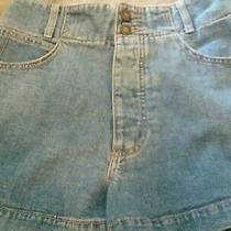 Womens Denim Shorts 29 Guess Vintage Button Close Buckle on Back Photo