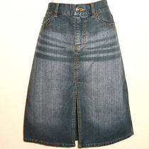 Womens Denim Skirt Express Jeans Split Front Sz 3/4 Photo