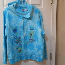 Womens Dg2 Plus Size 2x Hoodie Embellished  Appliques and Sequins Butterflys Photo