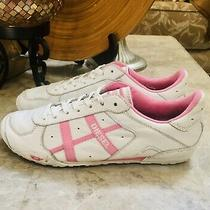 Womens Diesel Leather Sneakers White Pink  Us 8.5 Eur 39 Photo