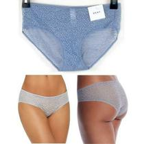Womens Dkny Modern Lace Sheer Hipster Cadet Blue Size S Dk5014 Nwt Panty Photo