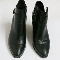 Womens Dolce Vita Hilary Black Leather 8.5 Zipper Ankle Booties Strap 189 Boots Photo