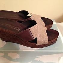 Womens  Donald J Pliner Weige Heel Tan Shoes Size 8.5 Usa Photo