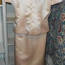 Womens Donna Morgan Dressy Long Formal 2 Pc Suit Blush Peach Pink Sz 8 Mob New Photo