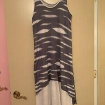 Womens Dress Kensie Size M Assymetric Two Layer Super Soft White/gray Good Cond Photo