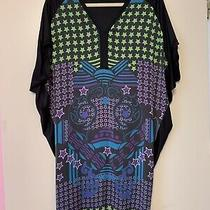 Womens Dress Versace Size M Black/multicolor Good Condition Photo