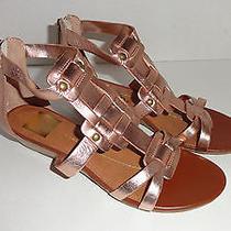 Womens Dv Dolce Vita Vita Blush Copper Mini Wedge Back Zip Sandals 6.5  Photo