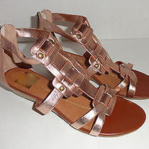 Womens Dv Dolce Vita Vita Blush Copper Mini Wedge Back Zip Sandals 6.5  Photo