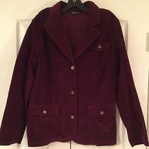 Womens Eddie Bauer Jacket 16. Corduroy Maroon Euc. Photo