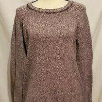 Womens Eddie Bauer Long Sleeve Pullover Sweater Size Medium Gray Photo