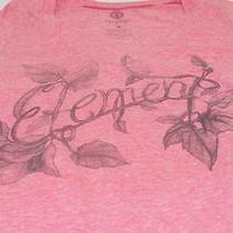 Womens Element Shirt Medium v Neck Pink Graphic Tee Photo