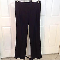 Womens Elie Tahari Black Dress Pants With Black Design Size 8 Photo