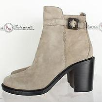 Womens Elizabeth & James Stylish Gray Suede Ankle Boots Sz. 9.5 M New Photo